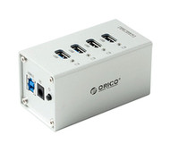 Wholesale Super Speed Ports USB3 HUB with Power Adapter ORICO A3H4 Aluminum D2256D