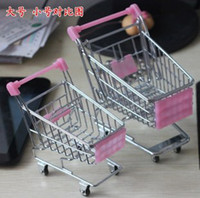 shopping cart - New Mini Shopping Cart Desktop small carts Creative mobile holder