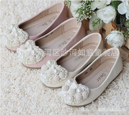 Wholesale 2013 Girl Leather Heart shaped Pearl Shoes Kids Cute PU Step In Footwear Princess Shoes Children Clothing Hollow Lace Beaded Dress Shoe