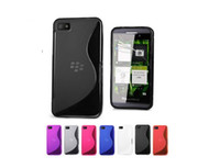 Silicone case bb - S Line Wave Gel Case Cover for BlackBerry Z10 BB case mix color by dhl