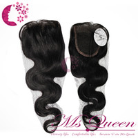 Wholesale 1pcs Top Lace Closure body wave virgin indian hair hairpiece quot x quot from quot to quot