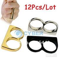 Wholesale Fashion Jewelry Double Finger Rings Mix Color