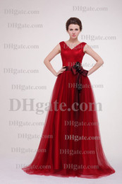 Wholesale V Neck Youthful Red A Line Women Plus Size Dress Prom Gown Ball Gown New Hot Sale Formal Dress