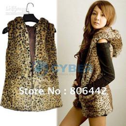 Wholesale Hot Sale Korean Style Hooded Leopard Sleeveless Fur Vest Women s Outerwear