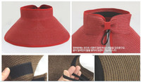 Wholesale Qltrade_2 New lady Visors crushhat Convenient sunbonnet red hat