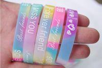 Wholesale Luxury men women jelly silicon glow rubber wristband bracelet unisex sport candy colors bracelets cuff band bangle new