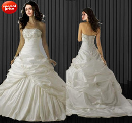 Wholesale 2013Factory Discount Beaded Lace Applique Taffeta Bandage Bride Wedding Dress Bridal Dress Bridal Gown