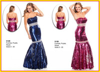 Reference Images Strapless  Sequins Fabric 2013 Sparkle Mermaid Sequins Fabric Strapless Ruffles Long Prom Evening Dresses Dress Gowns Wow 5126