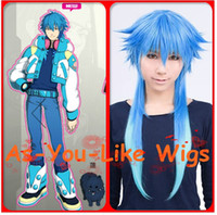 Wholesale Long Dramatical Murder DMMd AOBA Blue Gradient Anime Party Cosplay Wig Costume
