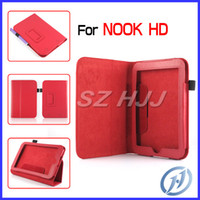 Cheap Folio Stand Leather Cover for Nook HD 7 Inch Stylus Holder PU Leather Protective Case Litchi Pattern