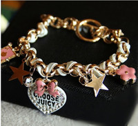 Wholesale 2013 Bow stars flowers hearts poker leather cord bracelet female couple