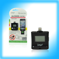 Wholesale Professional Mini LCD Digital Alcohol Breath Tester Breathalyzer designed for iPhone g iPod iPad