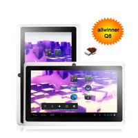 Wholesale Allwinner A13 Q8 Hy207 inch capacitive touch screen tablet pc usb G Skype Android Play store