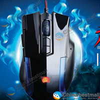 Wholesale A JAZZ AJAZZ DPI Wolf Team D Wired USB Optical Professional Gaming Mouse for PC Laptop