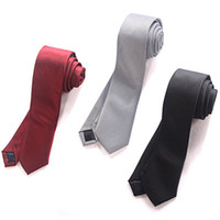 Wholesale Trend uyuk male cm secret pocket casual tie gift box set Silve Grey Black Wine Red
