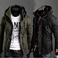 Men uyuk - Uyuk Exude Stand Collar Double Layer Fashion Men All match Male Casual Jacket