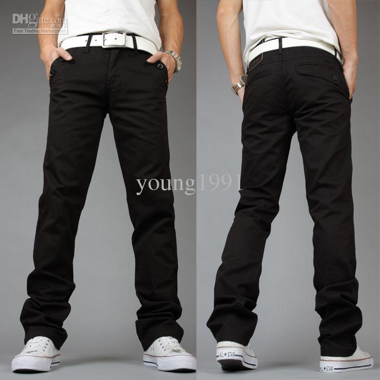2017 2014 Fashion Mens Dress Pants Cotton Casual Tousers Slim ...