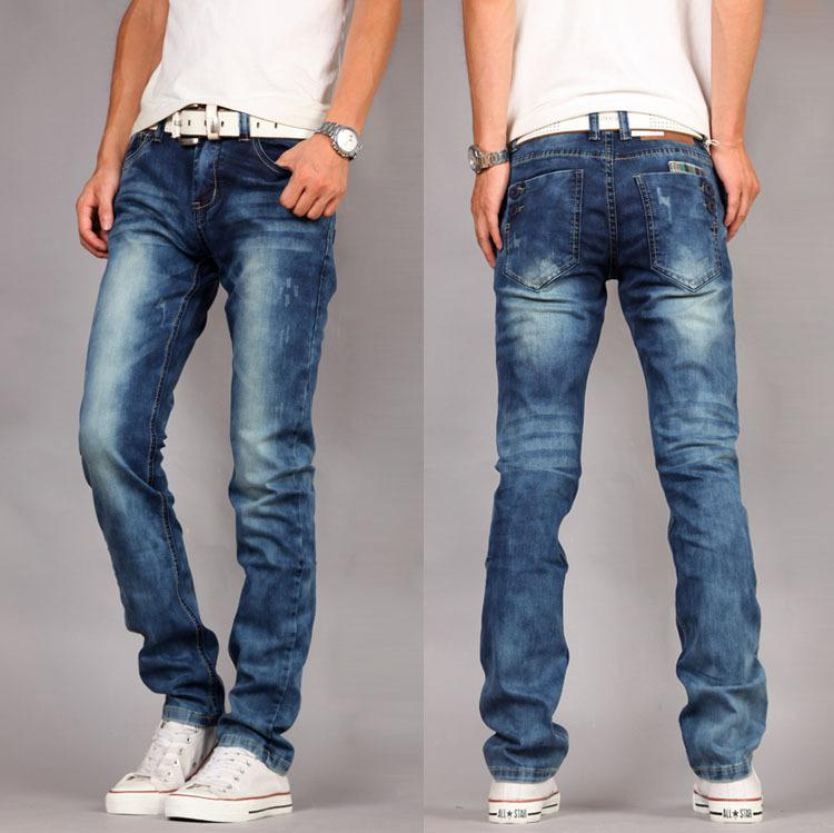 2017 2013 Cool Style New Mens Casual Jeans Trousers Blue Slim Fit