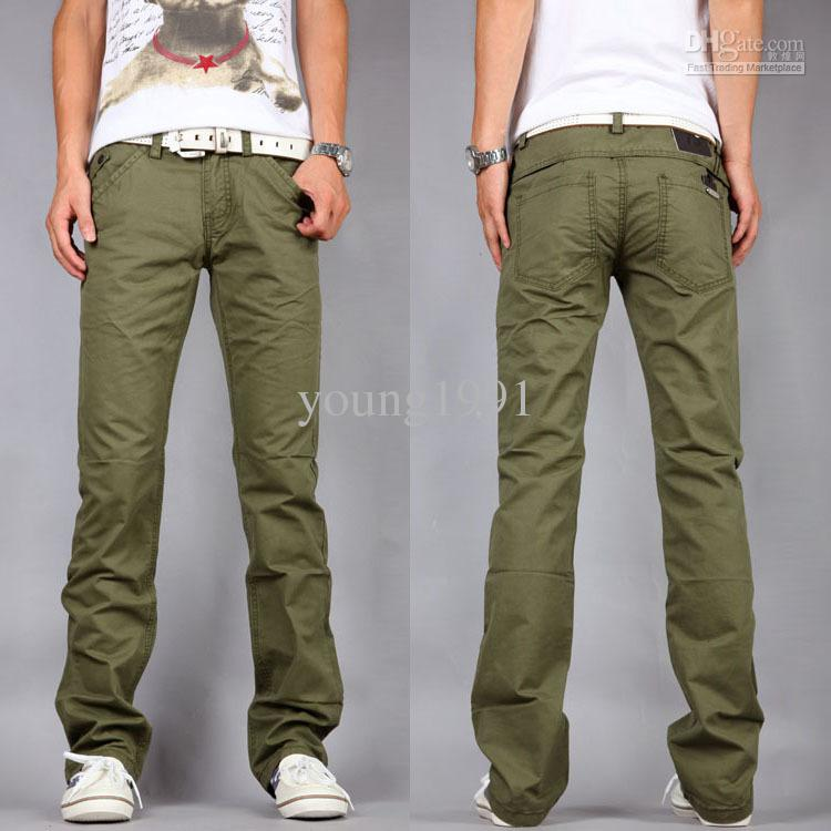 army green pants men - Pi Pants