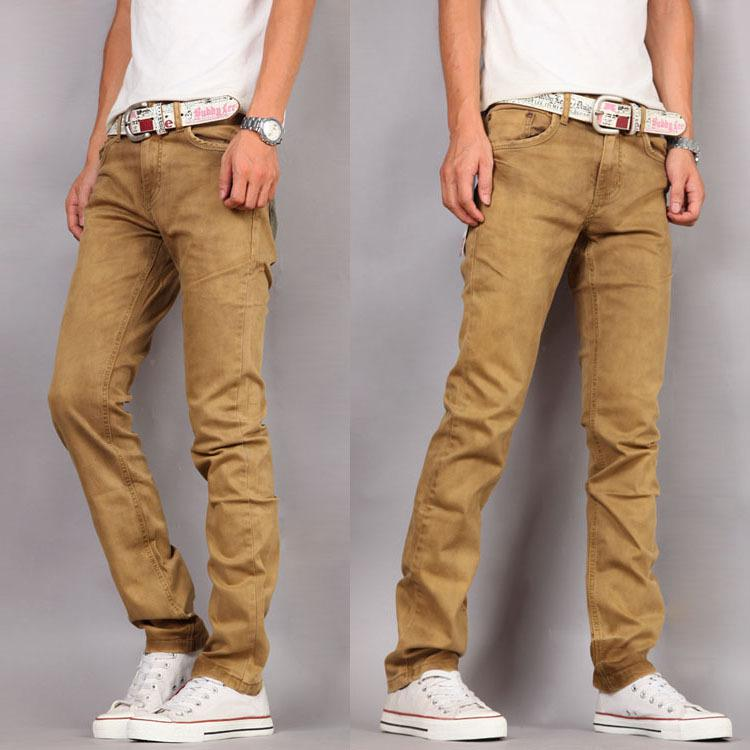 2017 2013 Casual New Mens Jeans Trousers Khaki Slim Skinny Jeans ...