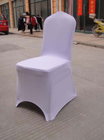 Wholesale 100pcs white polyester spandex banquet chair cover lycra chair cover arch front