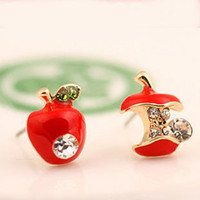 Wholesale Fashion Earrings Lady Earrings Fashion Apple Shape Earings
