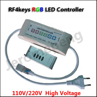ac voltage controllers - RF keys High Voltage V V AC RGB LED Controller for V V LED Strip Light