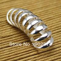 Wholesale 2pcs Fine Ear Stud Ear Cuff Silve Ear Clips band Globoidal Earrings jewelry for men women