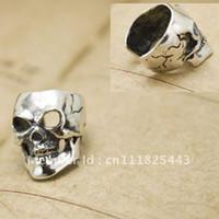 Wholesale 2pcs Ear Stud Ear Cuff Sterling Silve Ear Clips skull Cartilage Non pierced Earrings
