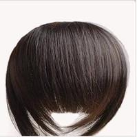 Wholesale 1pcs Bold amp Blunt Hair Fringe Hair bang human hair extension Made colors available
