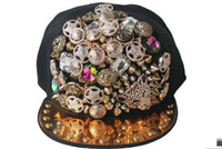 Wholesale snapback hat punk rivets leopard head sewn fashion for men and women of the baseball cap hip hop cap