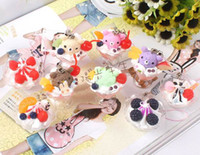 Wholesale New Cute styles Rilakkuma cookies amp Ice cream squishy charm mobile phone pendant st