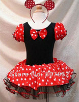 Wholesale Halloween Minnie Mouse Girls child children Party Christmas Costume Ballet Tutu Dress