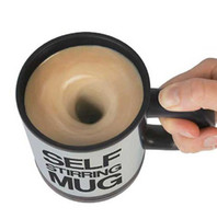 Wholesale With Retail Packaging Automatic Stainless Steel Self Stirring Mug Coffee Cup Novel Present Camp Cup