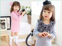 18-24 Months baby clot - Hot Sale New Fashion Flower collar Baby Girl Dress kids Dress clothing children s wear dress clot
