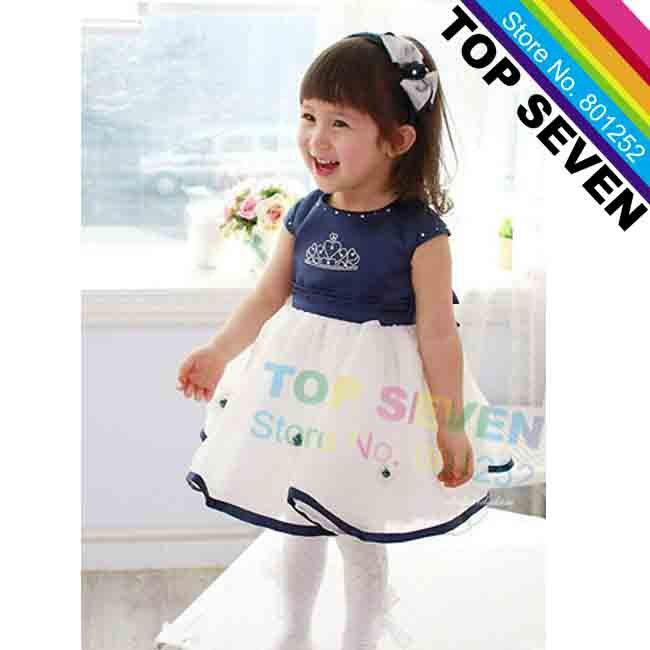 2017 2013 New! Toddler Girls' Summer Dress, Children's Crown ...
