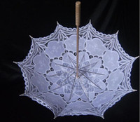 Wholesale Vintage Battenberg Lace Parasol Sun Umbrella Handmade for Wedding High Quality color u pick