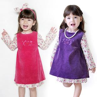 2017 Fashion Original Girl Casual Dress Up Baby Flower Cotton ...