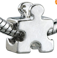 angels puzzle - 6 off new hot sale For Pandora necklace bracelet PUZZLE PIECE silver charm bead