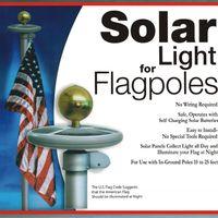 IP65 flag pole - 10 LED Solar Powered Garden Decor Light Top Flag Pole Flagpole Landscape Light