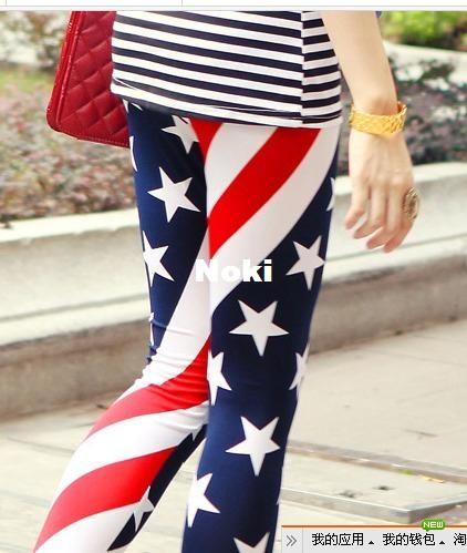 Women Leggings 2013 New Fashion American Flag Clothing Women USA