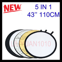 Wholesale 43 quot High Quality in1 Light Mulit Collapsible disc Panel Photography Reflector