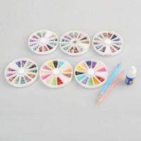 Wholesale New Nail Art Glitter Tips Rhinestone and Spot Drilling Pen and Nail Glue