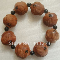 Chinese General General 1pc - Wooden Bracelet Woodcarving - WB29 - Peach wood Bracelet Bangle - Handicraft