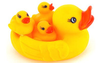 Wholesale Take a shower of duck duckling toys are a family of four and g mother duck toys children s toys t