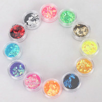 Nail Art Tools other  12 Color Glitter Sequins Nail Art Decoration Free Shipping 100set lot 10004949