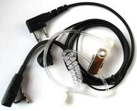 Wholesale 10pcs freeshipping Earpiece Headset Earphone For ICOM IC F3 F4 F31 F33 F34 F43 F44 F4021 F3011 F3021