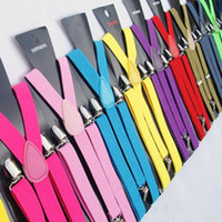 Wholesale Fashion Men Women Braces Suspenders with Silver Clips cm CM Candy Colors Good Quality