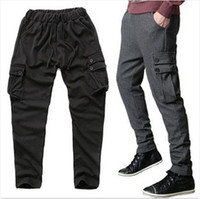 Wholesale NWT Mens Casual Sports Dance Trousers Fit Training Baggy Jogging Harem Pants Black Grey M XL X35