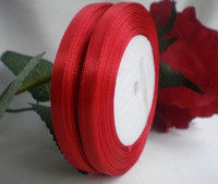Wholesale 100 yards quot mm Red Satin Ribbon Craft Wedding Party